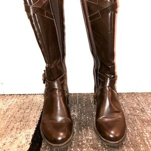 Franco Sarto Brown Leather Riding Boot Size 6M